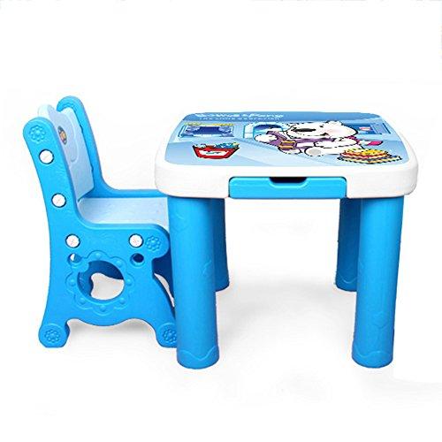 Brisk Set Da Tavolo E Sedie Per Bambini Asilo Scrivania Di Plastica Sedia Disegna Un Tavolo Didattico Colore Blue C Dimensioni 1 Table 1
