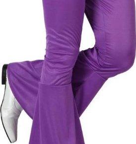 Atosa - 13272 Disfraz Pantalon Disco Morado Adulto Acampanado