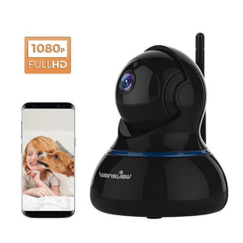 Wansview Videocamera di Sorveglianza, 1080P Telecamera Wi-fi Interno di Sicurezza Per Bambini/Anziani/Pet,Camera IP con PTZ, Audio Bidirezionale e Visione Notturna Q3S (Nero) …