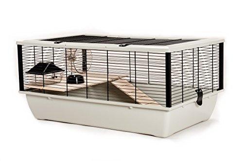 Little Friends, Alta gabbia per criceti e topi con mensola in legno e scaletta