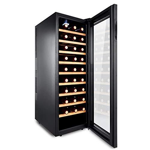 HYYQG Cantinetta Vino, Bevande Frigo 30 capacità Bottiglia Smart Digital Touch Display Vetro Nero...