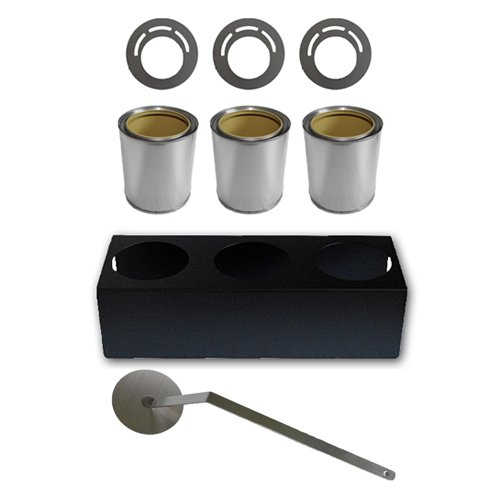 Accessories for fireplace: fuel cans/burners + savings plates + holder + flamekiller
