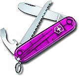 Victorinox Taschenmesser My First Victorinox (9 Funktionen, Abgerundete Klinge, Kette und Kordel) pink Transparent