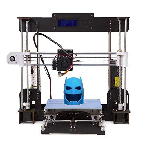 Tigtak A8 3D Drucker Prusa I3 3D Printer DIY 3D-Drucker Kit Upgradest High Precision Selbstbauen 3D Drucker mit LCD Bildschirm (220x220x180mm)