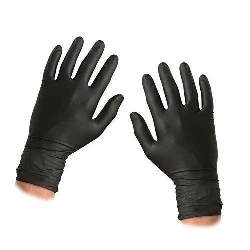 ASC nero guanti usa e getta in nitrile–Taglia XL–Tessuto–Guanti da polvere e senza...