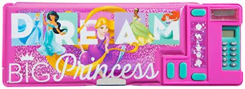 Astuccio Scuola Rosa Fucsia Disney Princess 3 Scomparti Con Principessa Cenerentola Jasmine Aladdin...