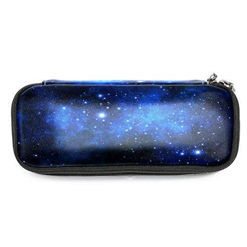 TIZORAX - Astuccio portapenne con motivo galassia, nebulosa, pianeti, stelle, universo, blu