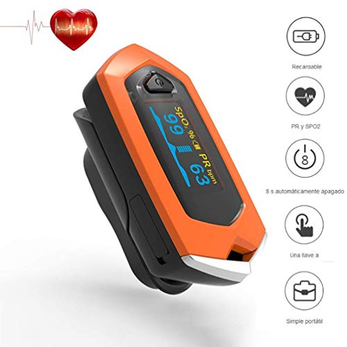 SYANG Ricaricabile Pulsossimetro Saturimetro da Dito Portatile Professionale con Display OLED per...