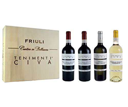 Selezione Vini Tenimenti Civa Colli Orientali del Friuli - Regalo Vini Provenienza Friuli Venezia Giulia - Cod. 367