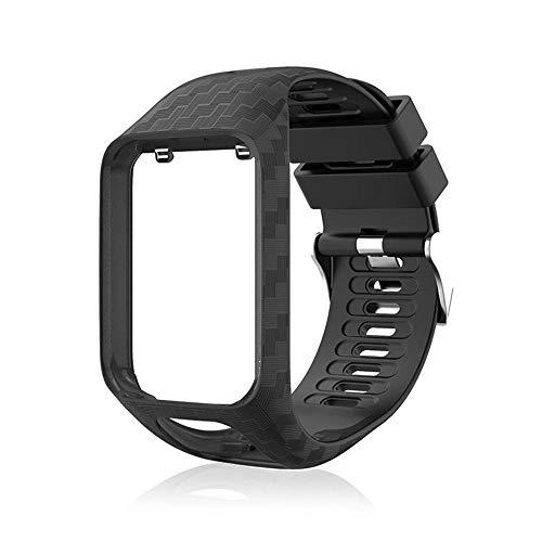 Volwco Cinturino per Tom Tom,Cinturino di Ricambio in Silicone Compatibile Tomtom 2/Runner 3/Spark...