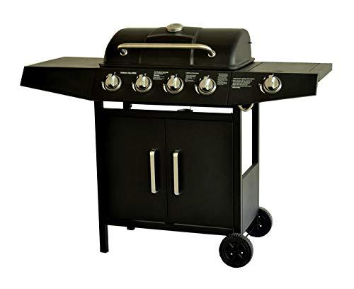 Barbecue a Gas,Compatto con 4+1 Bruciatore,BBQ Gas per Pietre Laviche,con Fornello...