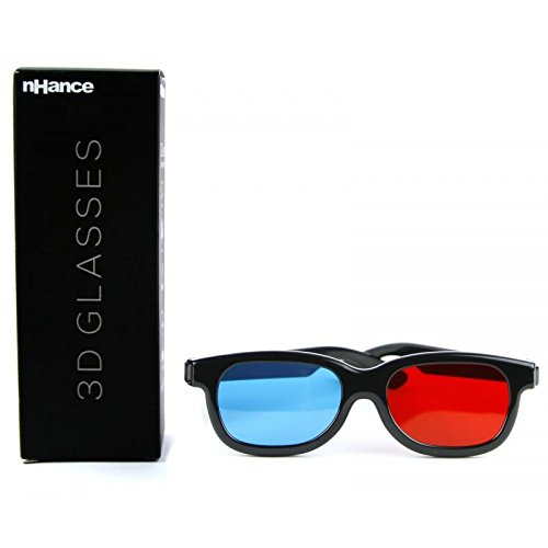 Domo nHance CM230B Anaglyph Passive Cyan and Magenta 3D Glasses (Black)