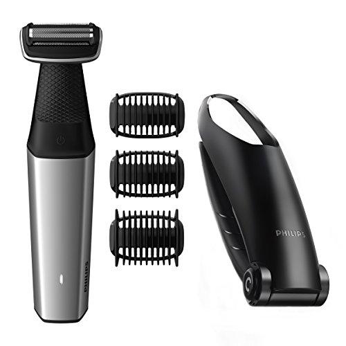 Philips Bodygroom Series 5000 BG5020/15 - Rasoio per depilazione schiena, 3 testine incluse