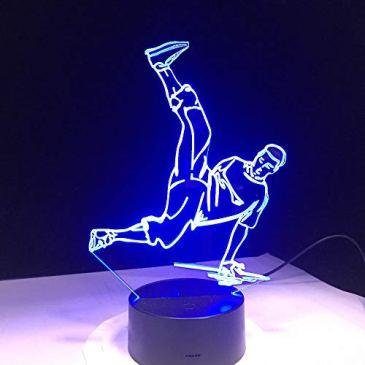 FISSEN 3D Hip hop LED Lampe d'illusion Optique Lampe Lumière de Nuit avec Câble USB et 7 Couleurs Décoration pour Enfant Chambre Chevet Table de Bébé Enfant Cadeau De Noël Fête Anniversaire