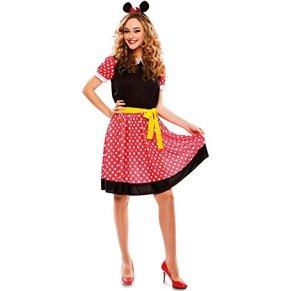 EUROCARNAVALES Disfraz Vestido de ratona Linda Mujer - M-L (42)