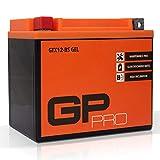 GP-PRO GTX12-BS 12V 10Ah GEL-Batterie (Ähnlich YTX12-BS / 51012) (Wartungsfrei & Versiegelt) Akkumulator Motorrad Motorradbatterie