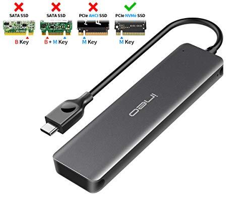INEO USB C 3.1 Gen 2 Tipo C Alluminio M.2 PCIe NVMe SSD Contenitore Esterno per 2280 2260 2242 2230...