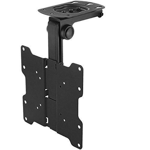 """deleyCON Universal TV & Monitor Deckenhalterung - 10\"""" bis 40\"""" Zoll (25cm-101cm) - bis 20Kg - max. VESA 200x200mm - 90° Schwenkbar - TV Decken Halterung"""