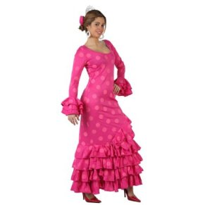 Atosa-97163 Disfraz Flamenca, color rosa, M-L (97163)