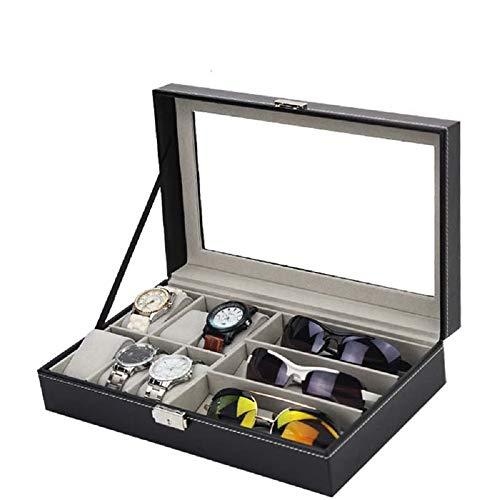 Styleys Wrist Watch Storage Watch Box(6+3 Grids Black- W75B)