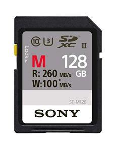 Sony SFG1M - Tarjeta de memoria SD de 128 GB, color negro