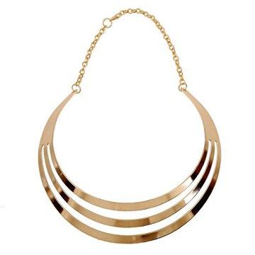 1pieza Vintage Multilayer Cadena de mujer, Egipto Estilo Collar para mujer, Golden Cadena kt003 3