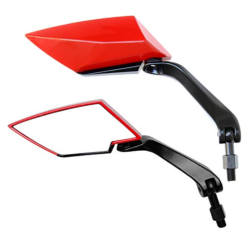 Universal Motorrad Spiegel Set, F1 Ultimate, Rot (2x M10 Rechtsgewinde) 1