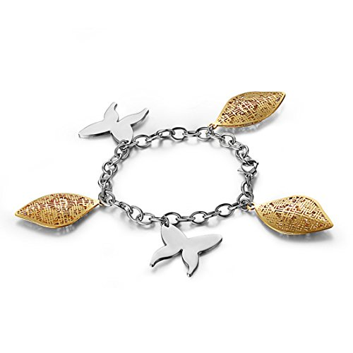 hardart mariposa carcasa Apple pulsera de acero inoxidable: Plata/Oro