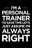 Personal trainer journal: Blank lined PT...