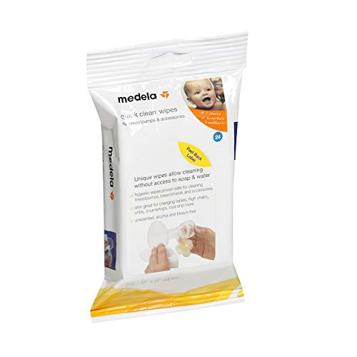 Medela Quick Clean Breastpump & Accessory Wipes - 24 ct by Medela