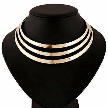 1pieza Vintage Multilayer Cadena de mujer, Egipto Estilo Collar para mujer, Golden Cadena kt003 4