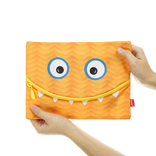 zipit ZJ-ggsm-or googly Smile Jumbo Astuccio divertenti e Verspielt Smile di Orange