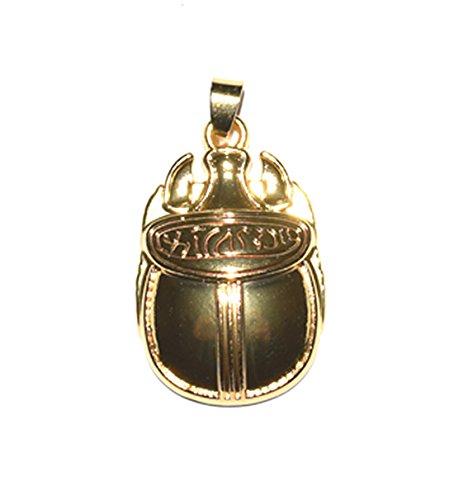 Pequeño colgante de escarabajo de 15 mm, de estilo egipcio con jeroglíficos.