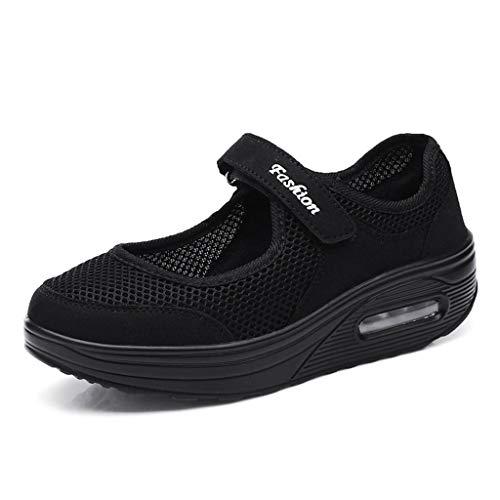 d1c7945641c466 LILIHOT Frauen leichte atmungsaktive Mesh-Schuhe erhöht Freizeitschuhe  Outdoor Casual Sportschuhe Dickes Ende Erwachsene Straße