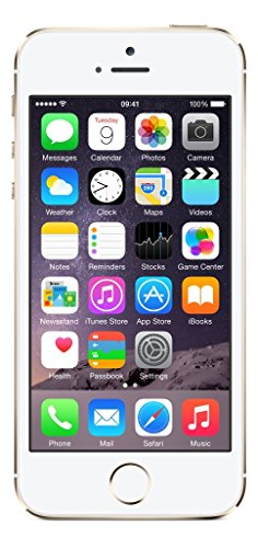 "Apple iPhone 5s, 4"" Display, SIM-Free, 16 GB, 2013, Gold (Generalüberholt)"