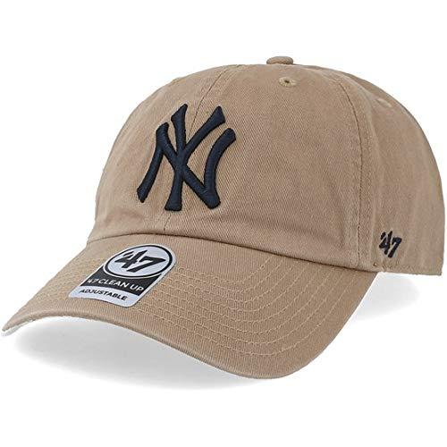 Gorra curva beige de New York Yankees MLB Clean Up de 47 Brand - Beige, Talla única
