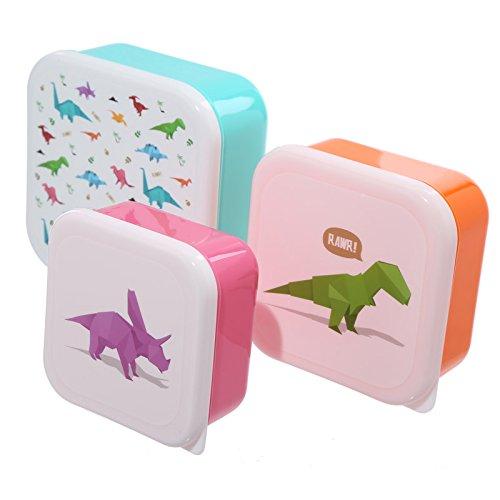 Set de 3 cajas de almuerzo apiladas - Dinosaurios [diseño por Jack Evans]