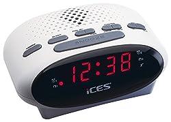 Kaufen iCES ICR-210 Uhrenradio (2x Weckzeiten, Schlummerfunktion, Sleeptimer) weiß