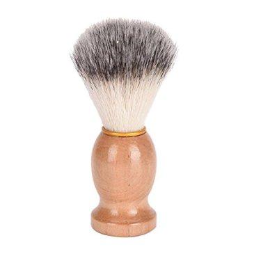 Waroomss Hommes Rasage Brosse, Poignée En Bois Faciale Barbe Rasoir Brosse Barber Rasage Savon Mousses Faciale Nettoyage Rasage Outil
