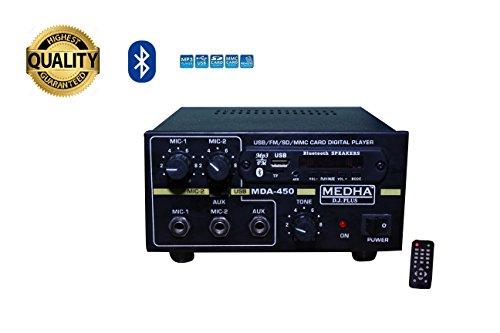 MEDHA D.J. PLUS MDA-450 USB Bluetooth Amplifier with Digital Media Player