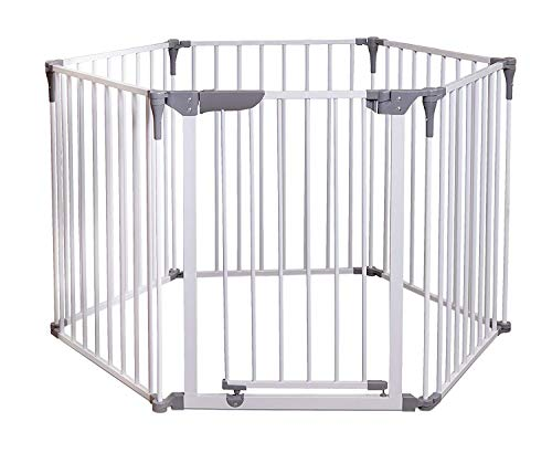 Emily Pets 3 in 1 Super Metal Safety Wide Gate and Play Yard for Kids & Pets