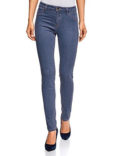 oodji Ultra Damen Jeans Skinny Basic, Blau, 26W/32L (DE 34/EU 36/XS)