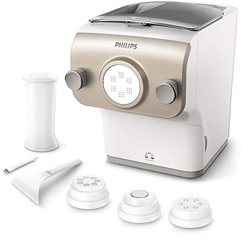 Philips Macchina per la pasta Avance Collection Plus HR2380/05 Pasta Maker con Bilancia Integrata, 4...