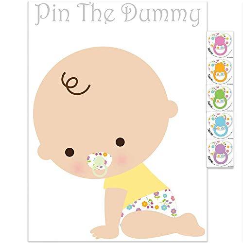 Pin The Dummy Auf Das Baby Spiel Für 24 Spieler Babyparty Spiel - Weiß
