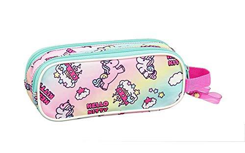 Hello Kitty Candy Unicorns - Astuccio ufficiale per la scuola, 210 x 60 x 80 mm