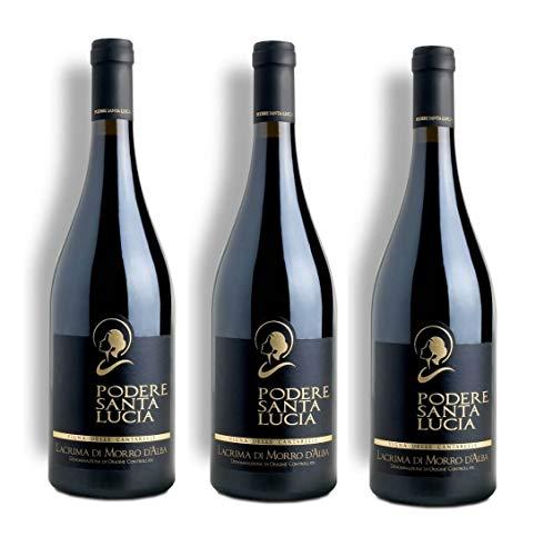 Vino Rosso Lacrima Di Morro D'Alba SUP. Le Cantarelle   2015   Podere Santa Lucia - 3 Bottiglie
