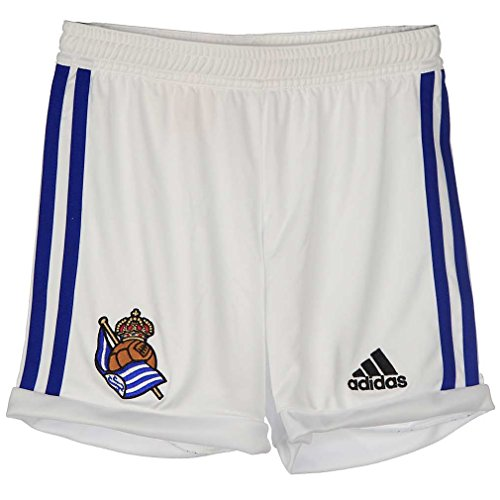 adidas Home Short - Pantalón Corto Real Sociedad 2ª equipación 2015/2016 para Hombre, Color Blanco/Azul, Talla 140