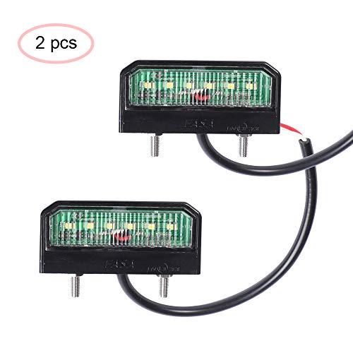 AOHEWEI 2 x LED Luci Targa Luminose Luci Del Numero Di Licenza Lampada Posteriore12~24V...