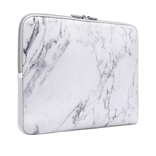 iCasso 13 Inch Stylish Soft Neoprene Sleeve Case Cover Bag For Macbook Air / Pro / Retina 13 Inch/2016 New Retina 13 Inch(White Marble)
