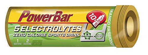 Bebida Isotónica 5Electrolytes 6 Tabs PowerBar (60 tabletas) Mango y Maracuyá